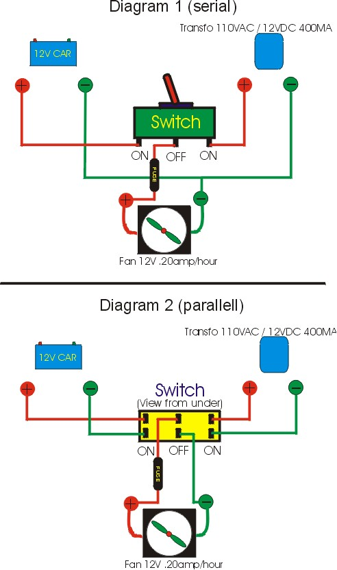 fan/fridge, Wiring diagram