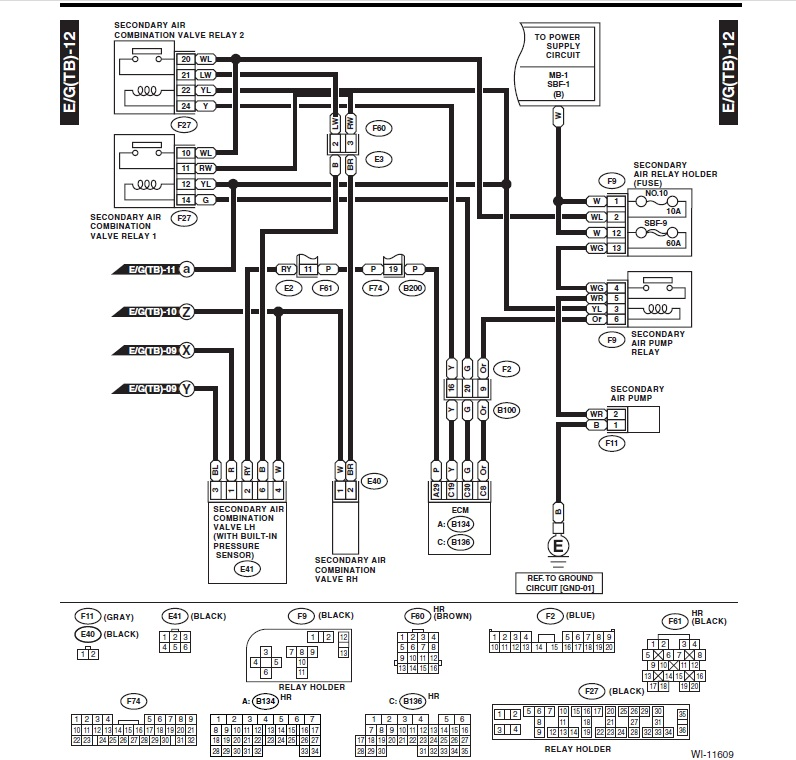 wiring diagram on subaru forester the wiring diagram secondary air valves p2443 and p2441 page 4 subaru forester wiring diagram